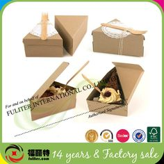 Alibaba China Wholesale Recycled Cake Slice Boxes Packaging