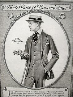 The well turned-out college man c. 1925.