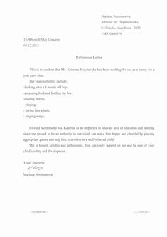 Letters Of Recommendation Template #JobInterviewMotivation