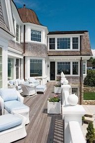 The perfect beach house porch.house itself is pretty amazing too! Style At Home, Interior Exterior, Exterior Design, Outdoor Spaces, Outdoor Living, Outdoor Patios, Outdoor Kitchens, Dream Beach Houses, House Goals