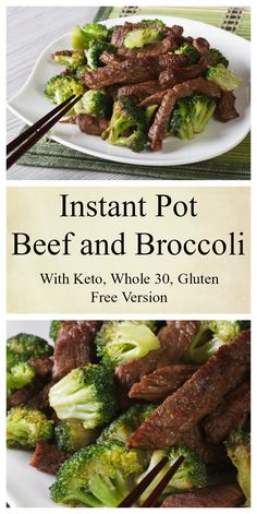 cooking recipes Instant Pot Beef and Broccoli with Keto Option - Instant Pot Cooking. This Instant Pot Beef and Broccoli recipe can be made keto, grain-free, gluten-free, and Whole 30 complaint with two simple substitutions. Crock Pot Recipes, Spicy Recipes, Lunch Recipes, Beef Recipes, Low Carb Recipes, Cooking Recipes, Cooking Tips, Cooking Beef, Cooking Games