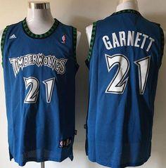9d8638d93 Timberwolves  21 Retro Garnett Blue Stitched NBA Jersey