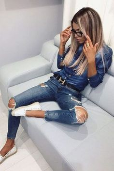 Awesome 54 Stunning Ripped Jeans Ideas To Look Rugged. More at https://trendwear4you.com/2018/03/23/54-stunning-ripped-jeans-ideas-to-look-rugged/