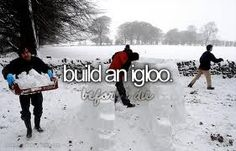 this is sooo fun!! i remember winters when i went out with my siblings to go build an igloo and snowmen!!! <3 famliy traditions!!