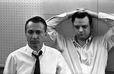 ARTHUR LAURENTS AND STEPHEN SONDHEIM (PHOTO: DON HUNSTEIN) Anyone Can Whistle - Original Broadway Cast Recording | The Official Masterworks Broadway Site #masterworksbroadway