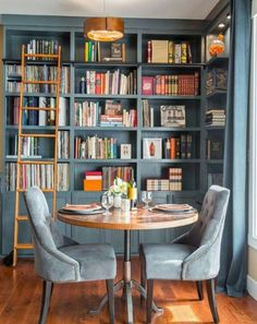 What to Consider For a Home Library is part of Future home Design - We all have books that we keep around the house, but why not turn your book obsession into a design feature Check out these fabulous home libraries that are bursting with inspiration Home Library Design, Library Ideas, Home Library Decor, Small Home Interior Design, Library Bedroom, Library Study Room, Modern Library, Library Images, Dining Nook