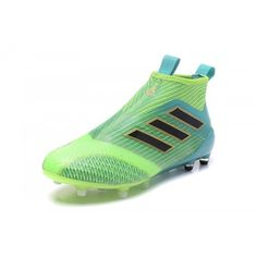 hot sale online 8af61 8cdaa Salg Adidas ACE Fodboldstøvler - Bedst 2017 Adidas ACE 17 Purecontrol FG  Dragon Gul Gron Bla