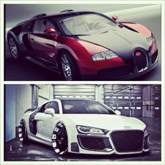 Audi R8 vs Bugatti Veyron! which would you choose to be on your drive!?