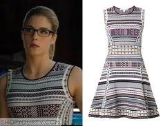 Arrow: Season 3 episode 8 Felicity's printed flare dress