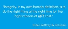 This is a great quote for Integrity's project.