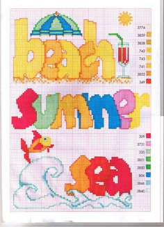 Beach summer sea perler pattern