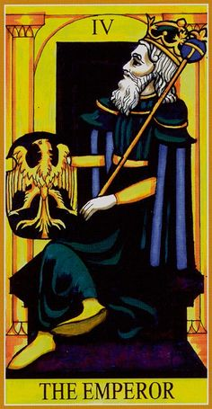 IV. The Emperor - Dame Fortune's Wheel Tarot by Paul Huson.