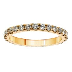 14k/ 18k Yellow Gold 1 1/5ct TDW Diamond Eternity Band (G-H, SI1-SI2) (14k Gold - Size 5.5), Women's