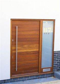 Statement wooden front door