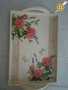 Wooden Painting Tray Models 164 Pcs - Wooden Tray Painting And Ornamentation Cork Crafts, Wooden Crafts, Diy And Crafts, Paper Crafts, Decoupage Plates, Decoupage Vintage, Wooden Painting, Small Canvas Paintings, Painted Trays
