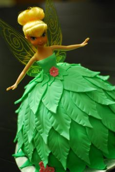 A Little Something Sweet - Custom Cakes: Tinkerbell Tinkerbell Doll Cake} Tinkerbell Doll, Tinkerbell Party, Party Fiesta, Barbie Cake, Fairy Cakes, Disney Cakes, Novelty Cakes, Cute Cakes, Cakepops