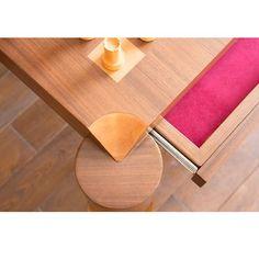 Grandmaster's Table Details #wood #walnut #details #homedecor #housebeautiful #chess #grandmaster #gaming #chessgamestrong #chessboard #chessiesofinstagram @chess.com @designmilk @collectivedf @designboom @designmiami @wallpapermag