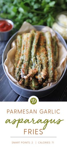 Parmesan Garlic Asparagus Fries
