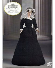 This series is a history lesson as well as a crochet pattern. There is a full page of biography for Rachel Jackson included in this issue.