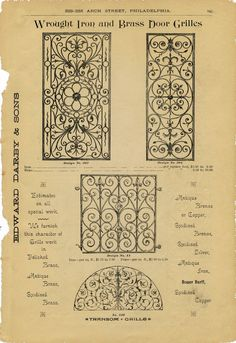 Free Vintage Clip Art - Iron Scrollwork Hardware Catalog - The Graphics Fairy