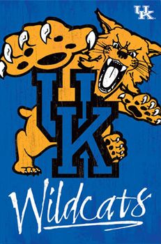 University of KENTUCKY WILDCATS Official NCAA Team Logo Poster-Available at www.sportsposterwarehouse.com