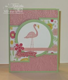 The Stampin' Bunny: Stampin' Addicts New 2014 Stampin' Up! Catalog Blog Hop Flamingo Lingo