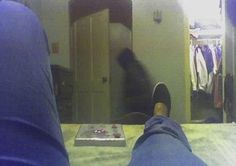 This woman was taking a picture of her new shoes w. - photo - Project: Paranormal <LOVE THIS! Ghost Pictures, Creepy Pictures, Ghost Pics, Real Haunted Houses, Haunted Places, Most Haunted, Paranormal Pictures, Paranormal Research, Ghost Sightings