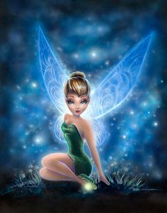 Lovely Tink - by Adrianna Vanderstelt<br>giclee on canvas