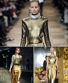 Out with the old, in with the gold!  Metallics aren't just for Christmas, be tempted all season long by their shiny sweet-wrapper allure.  #VEROMODA #StyleNotes #Gold @VERO MODA