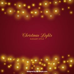 Christmas background with elegant lights Free Vector