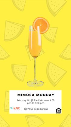 Mondays are rough, we totally understand. And that's why we're inviting you to kick back and relax with a mimosa on us! Join us this Monday for a relaxed atmosphere and a bubbly cocktail. Pet Friendly Apartments, Mondays, Alcoholic Drinks, Bubbles, Relax, Join, Cocktail, Alcoholic Beverages, Cocktails