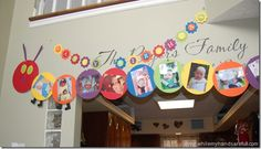 The Very Hungry Caterpillar party ~ photo display
