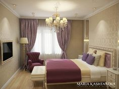 Интерьер спальни в стиле неоклассика. Спальня