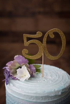 Fifty (50) Cake Topper - Birthday Party, Anniversary, Cake Decor, Photo Prop, Glitter Cake Topper, Fifty Decor by CutPartySupplies on Etsy 50th Cake, Glitter Cake, Birthday Cake Toppers, Photo Props, Cake Decorating, Anniversary, Table Decorations, Unique Jewelry, Handmade Gifts