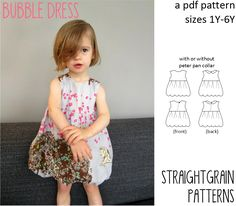 Bubble dresses are easier to make than you think! With this pattern, even confident beginners can make a bubble dress in just a few hours.  The dress is fully lined and can be made with or witho…