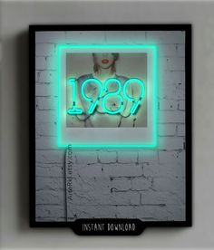 Taylor Swift, 1989, Poster, Gift, Neon, sign, Room, Decor, Wall, Print, Screensaver, Background, Instant Download