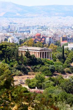 Temple of Hephaestus, Athens. Aka to our family the turtle temple Athens Acropolis, Athens Greece, Ancient Greek Architecture, Historical Architecture, Paros, Ancient Ruins, Ancient Greece, Santorini, Oh The Places You'll Go