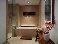 carrelage salle bain rouge beige clair mosaique carrelage de salle ...