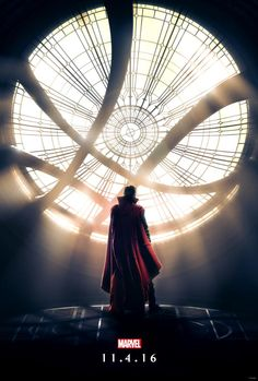 The first poster for Doctor Strange, starring Benedict Cumberbatch, ahead of tonight's trailer debut.