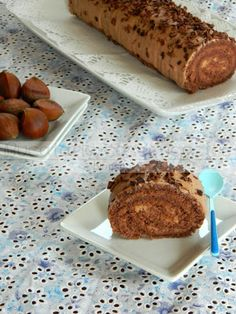 Bucataria casei noastre: Rulada de cacao cu ciocolata si piure de castane