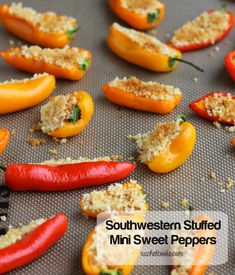 Southwestern Stuffed Mini Sweet Peppers | RachelCooks.com