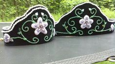 Iroquois raised beading womans crown and belt Beaded by: Jon Anne Capasso