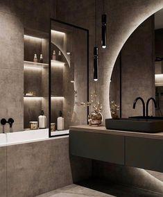 Bathroom Design Luxury, Modern Bathroom Design, Modern House Design, Modern Luxury Bathroom, Home Room Design, Dream Home Design, Home Interior Design, Condo Design, Bathroom Design Inspiration