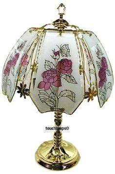 Ore international k3 glass table touch lamp k317 touch lamp rose touch lamp with polished brass base ok lighting httpsamazon aloadofball Gallery