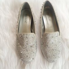 ❤️❤️ SILVER STUDDED LOAFERS Worn twice. No box  **remember to bundle and save 10%** no holds/no trades/no modeling/no asking for lowest Shoes Flats & Loafers