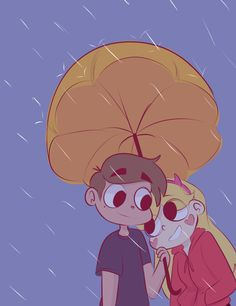 "starydraws: ""Starco rain, Starco date. Requested by @burgersandfreedom """