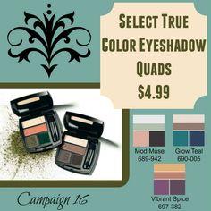 Great price on our Eyeshadow Quad. www.youravon.com/lindabacho #avonrep