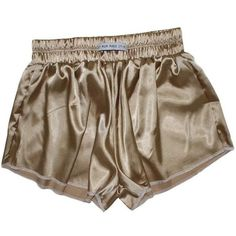 Vintage Gold High Waist Satin Shorts ($29) ❤ liked on Polyvore featuring shorts, high rise shorts, high-waisted shorts, high-rise shorts, gold high waisted shorts and highwaist shorts