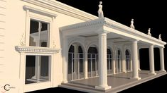 Terasa coloane grecesti statui Venus, Home Fashion, Statues, Palace, Exterior, House Styles, Design, Home Decor, Home
