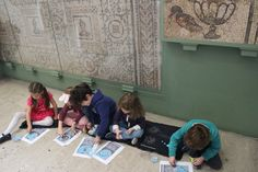 3 House Club, London: trip to the British Museum: after having classes about Ancient Egyptian, Greek & Roman art ( www.facebook.com/3HouseClub/posts/951599378199842 ); in this image, children were learning about Roman mosaics. Following this, there will be a workshop on ancient art at 3 House Club on Wednesday, October 29th 2014, from 11:00 to 15:00,  - a few  places left (open for members and non-members) https://www.facebook.com/3HouseClub/posts/957545707605209